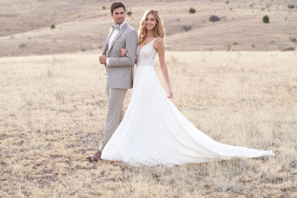 Free Groom's rental, couple on wedding