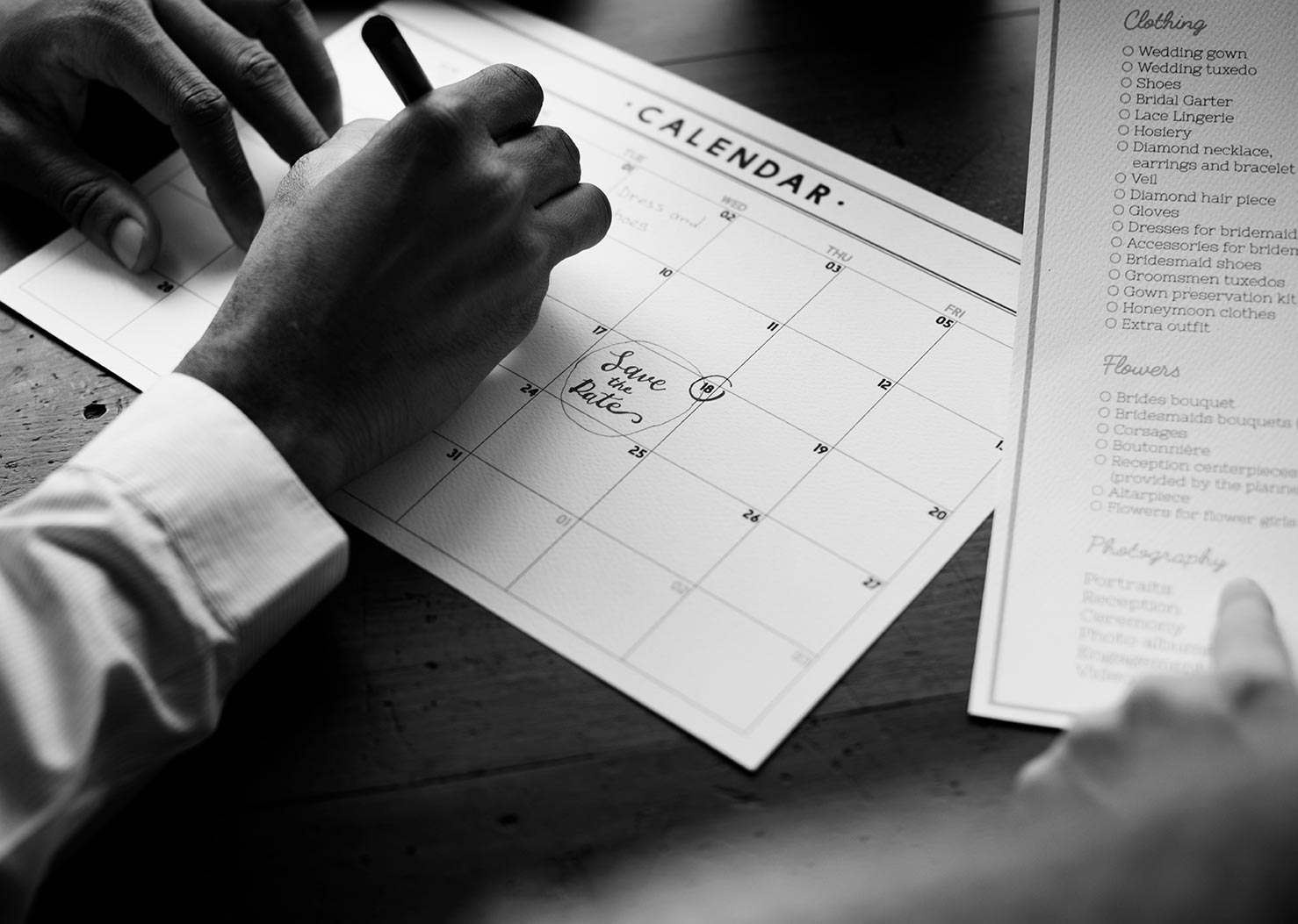 Useful Groom's Calendar to help you stay on track for your wedding